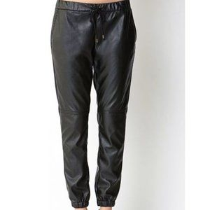 Forever 21 Faux Leather Joggers